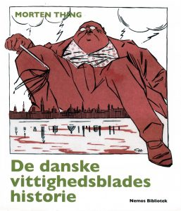 """Omslagsbillede til """"De danske vittighedsblades historie"""""""